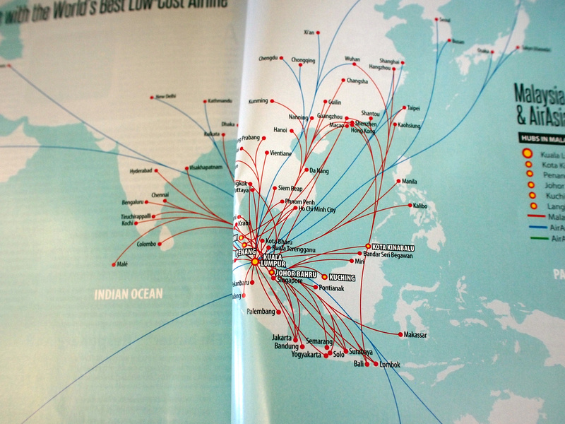 AirAsia KL route map