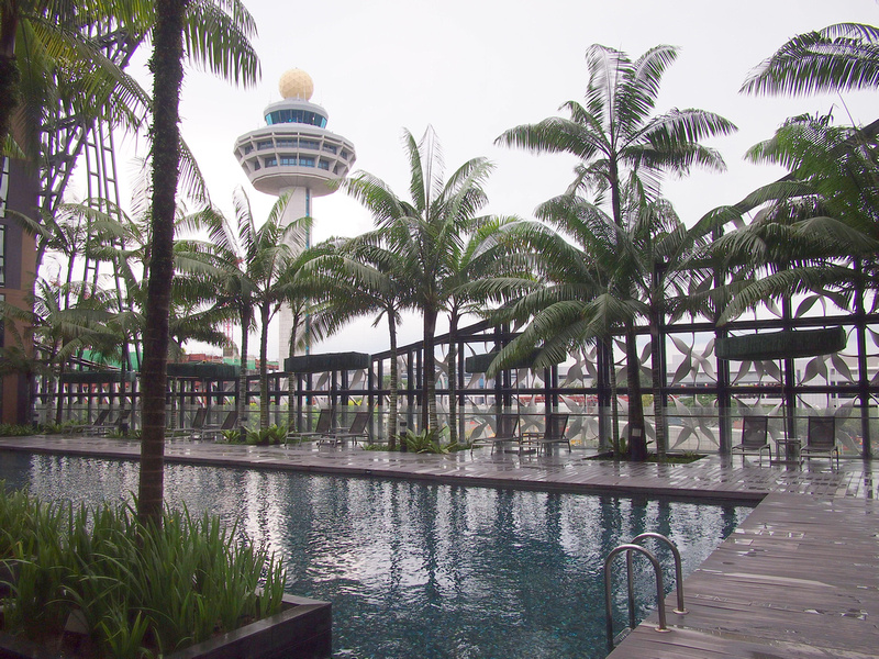 Crowne Plaza Changi - Pool control-tower view