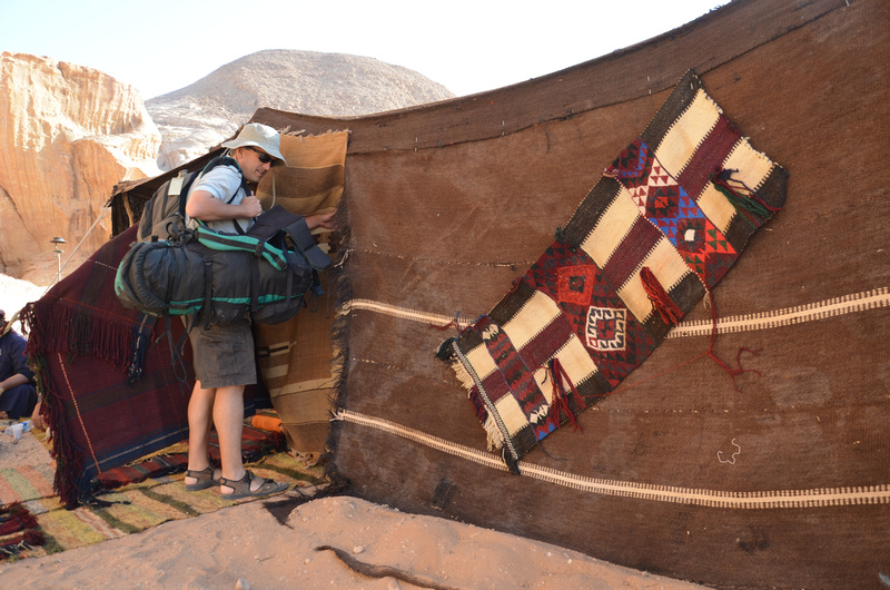 Wadi Rum tent accommodation with Kevin Revolinski