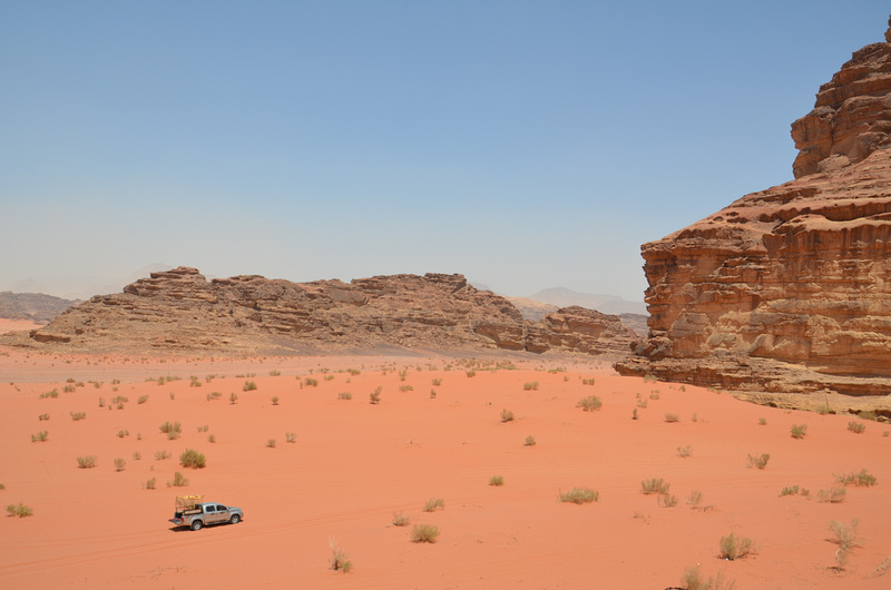 Pickup Truck in Wadi Rum