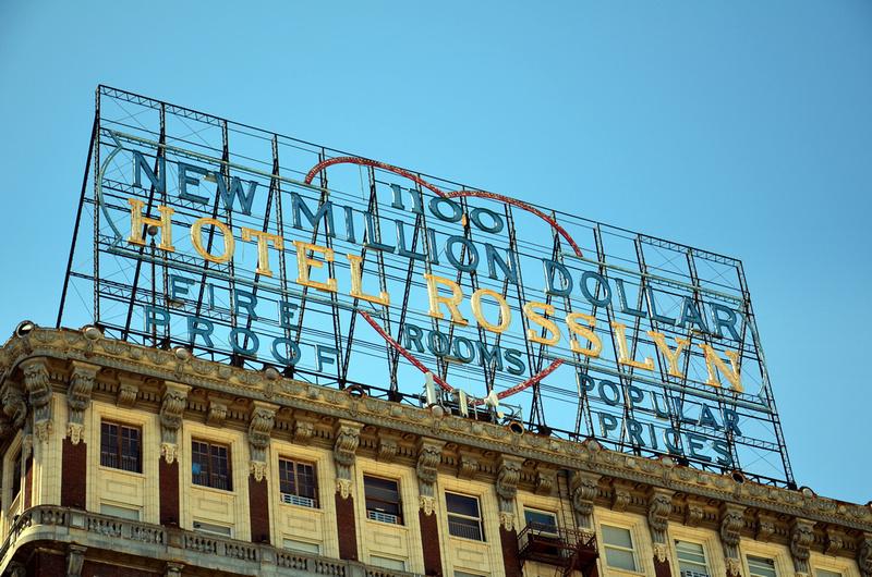 New Million Dollar Hotel Rosslyn Sign - Downtown LA