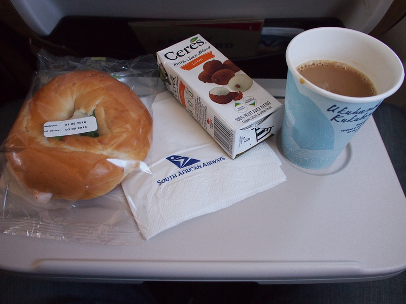 Chicken bagel and coffee