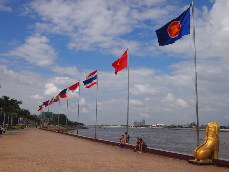 Flags of ASEAN, Phnom Penh - Cambodia