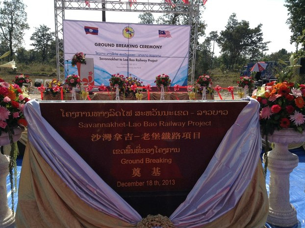 Laos breaks ground on railway project linking Thailand to Vietnam