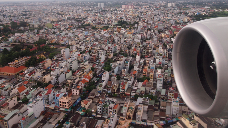 From the air, Ho Chi Minh City - Vietnam