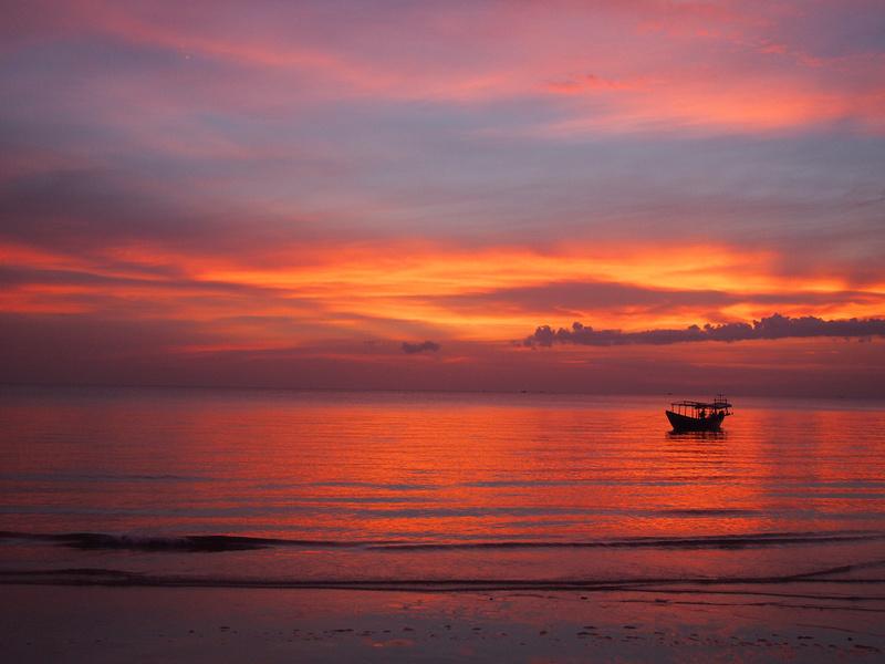Otres Beach Sunset #nofilter, Sihanoukville - Cambodia