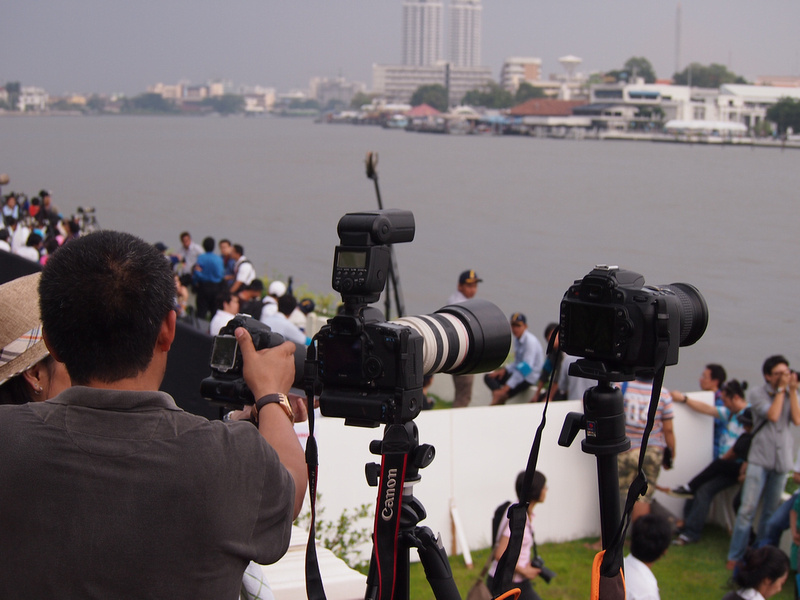 Photographers at the Royal Barge Procession