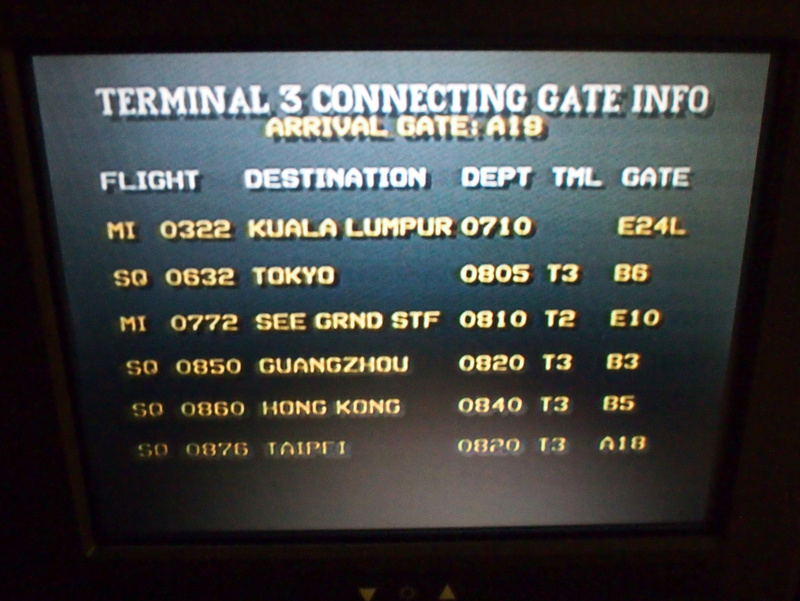 Connecting flights info