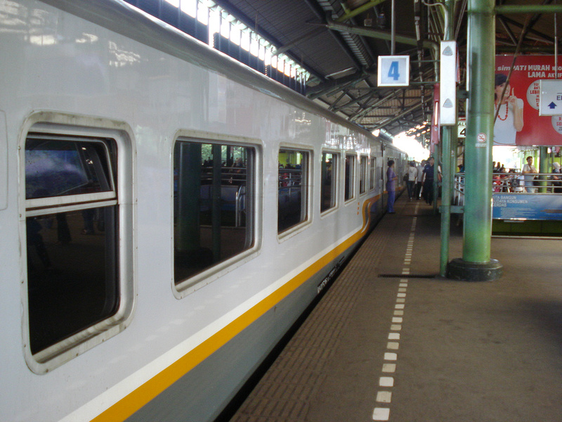 Train at Jakarta Gambir Station