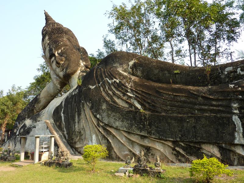 Reclining Buddha at Buddha Park [Laos]