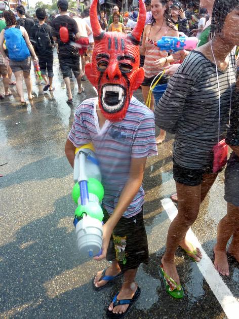 Songkran Chiang Mai - devil boy