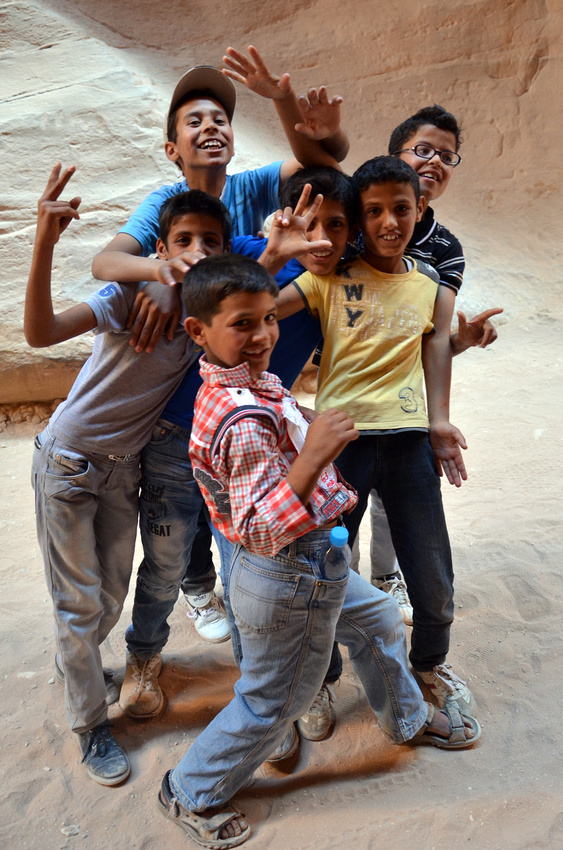 Cool kids at Petra - Jordan