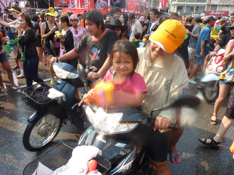 Songkran Chiang Mai - child gunner