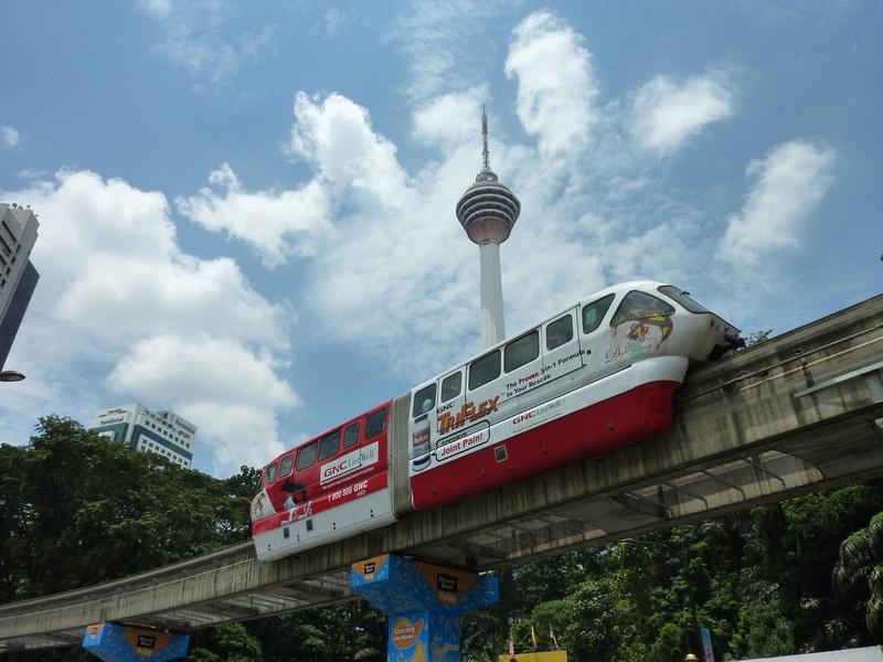 KL Tower and monorail, Kuala Lumpur [Malaysia]