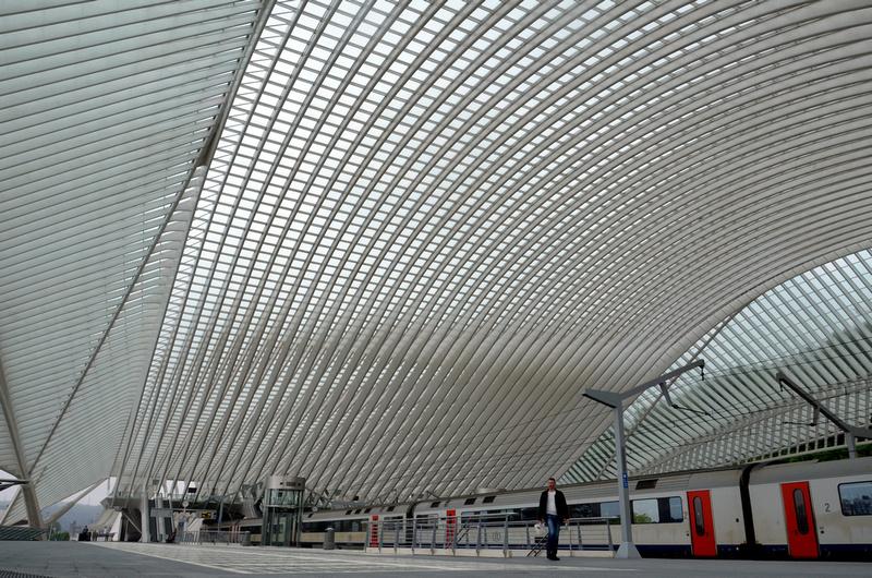 Liège-Guillemins from the platform