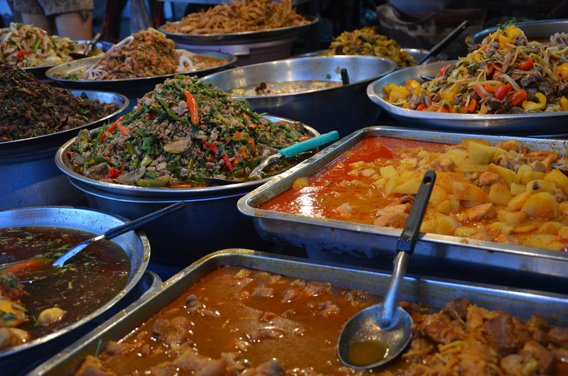 Curries at night market