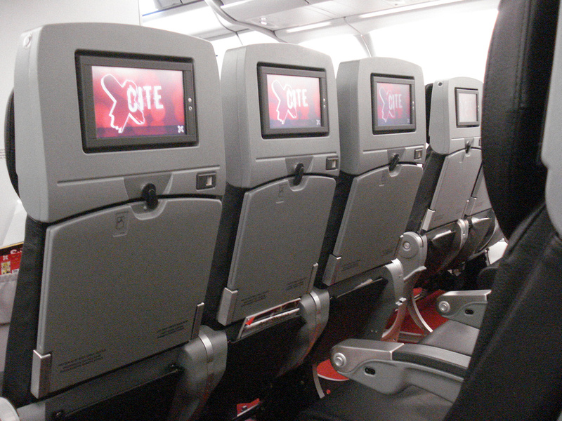 AirAsia X seat backs