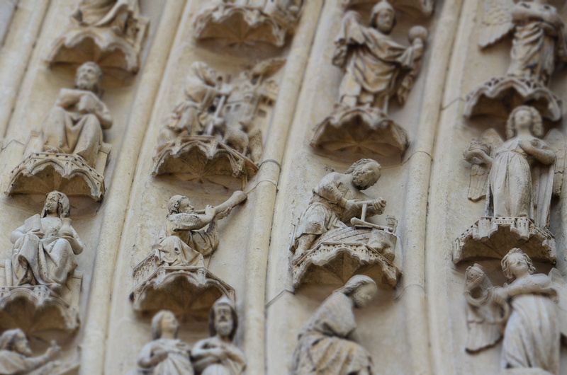 Cathedral door figures, Amiens - France