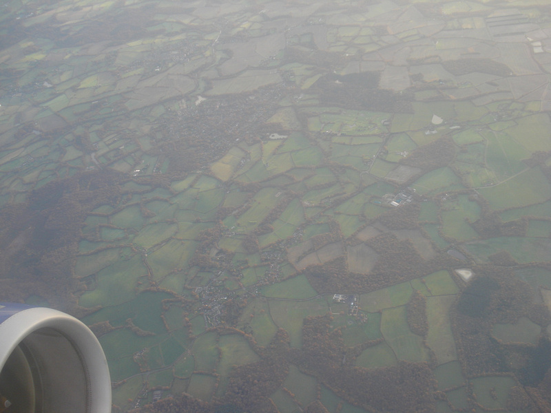Over the South of England