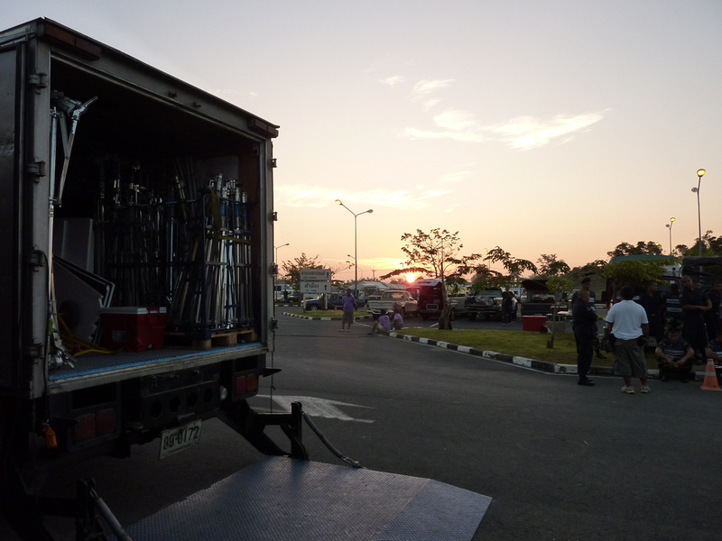 Early morning start on set for The Impossible in Surat Thani