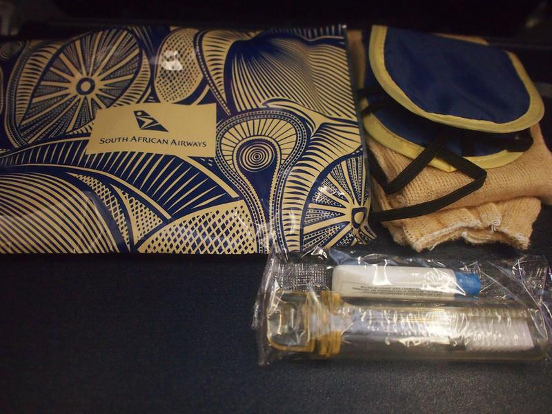 South African Airways amenities kit