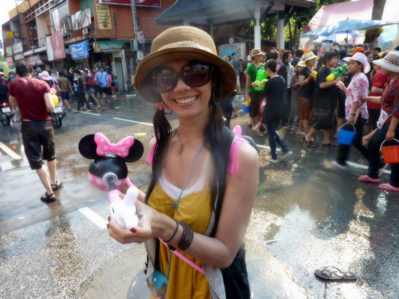 Songkran Chiang Mai - Girl with Minnie Mouse gun