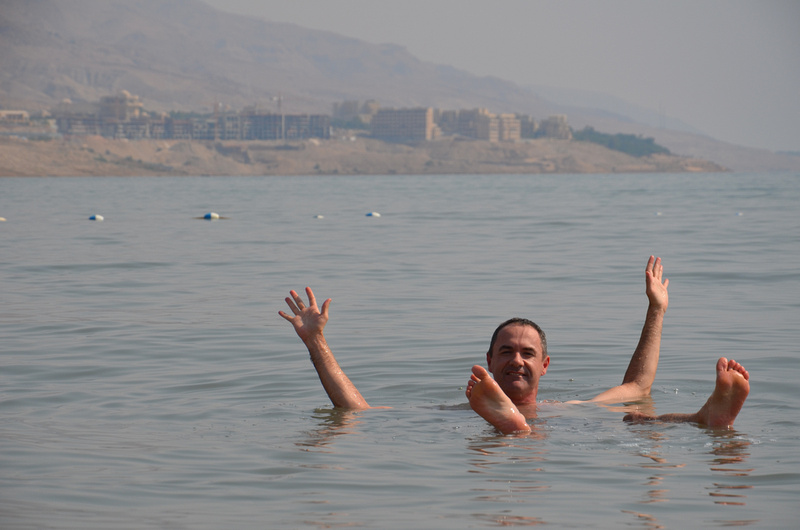 Floating in the Dead Sea - Jordan