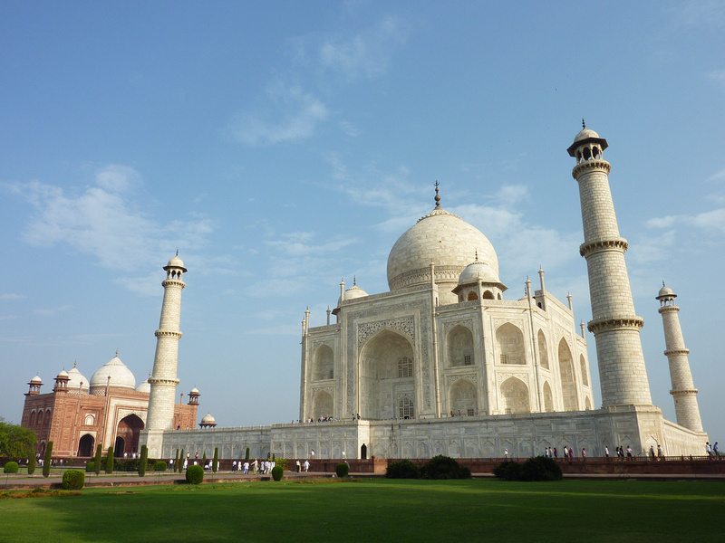 Taj Mahal and the Taj Mahal mosque, Agra - India