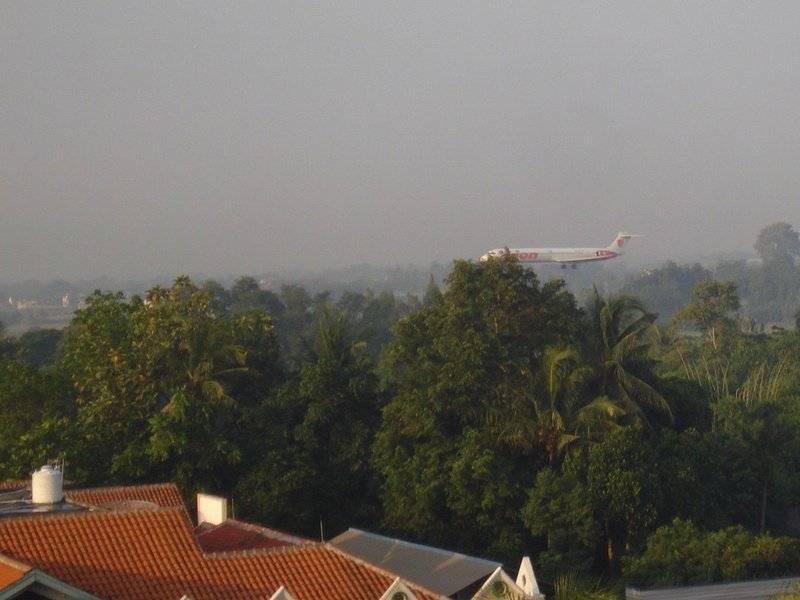 Room with an airport view: Yogyakarta - Java