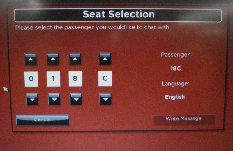 Chat seat selection: AirAsia X