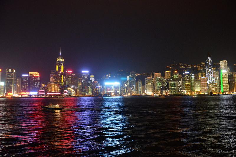 Hong Kong skyline at night - Hong Kong