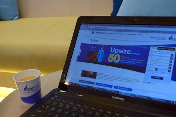 Coffee at Bangkok Airways Lounge - Chiang Mai Airport