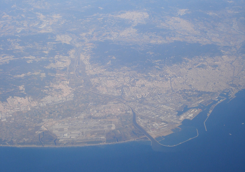 Flying over Barcelona