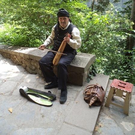Musician at Sümela Monastery