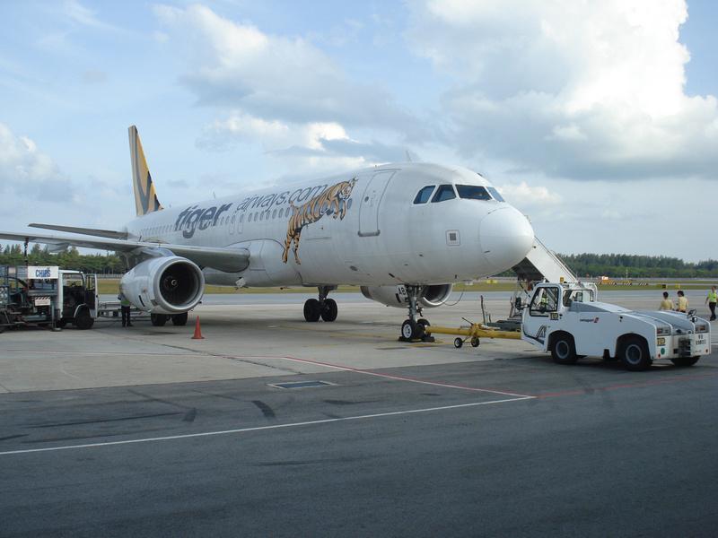 Tiger Airways at Singapore Airport
