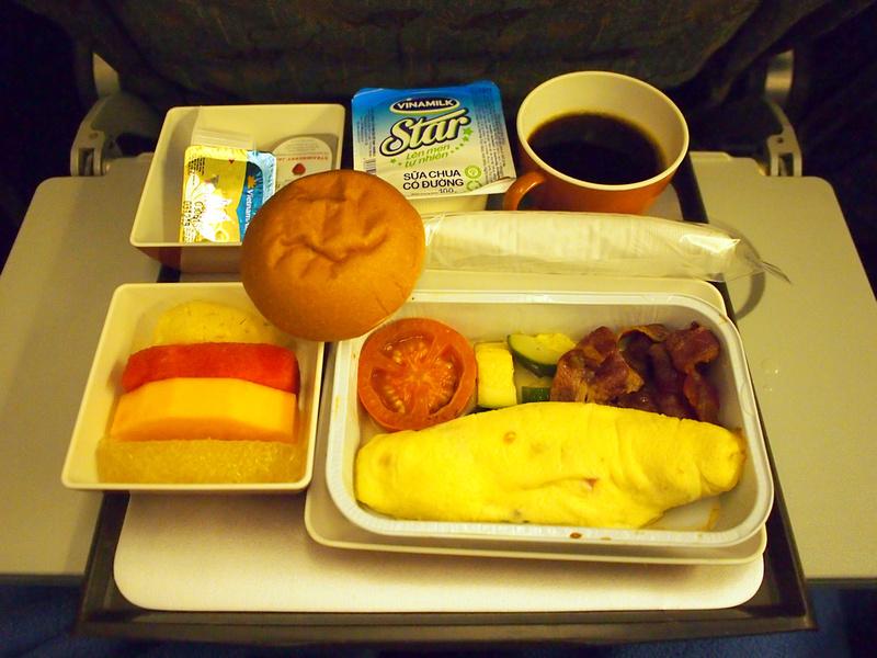 Vietnam Airlines breakfast