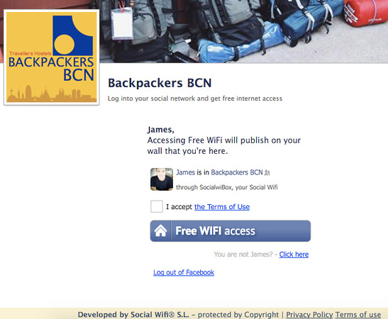 Backpackers BCN log in