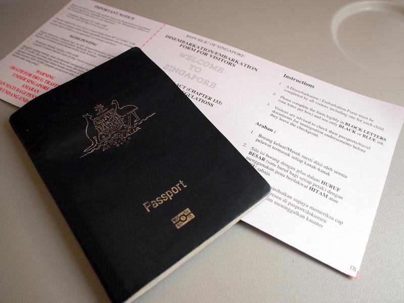 Singapore Immigration Form