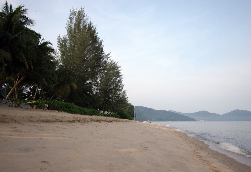 Beach view in the morning