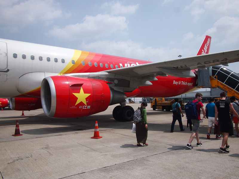 VietJet Air boarding at SGN
