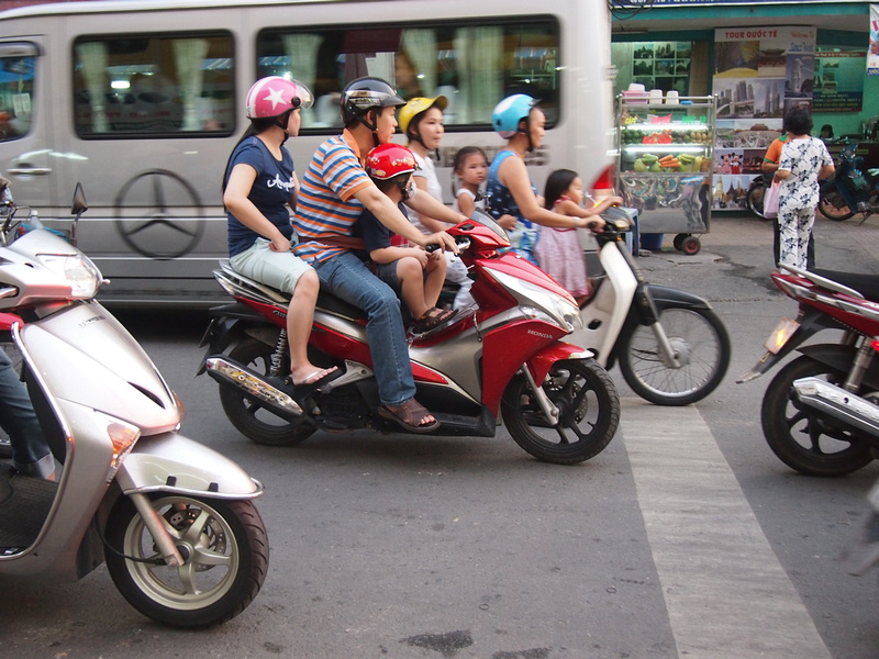 Bikers in Saigon