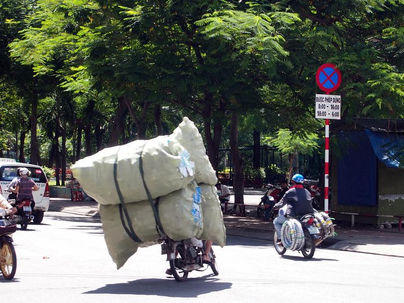 overloaded bike