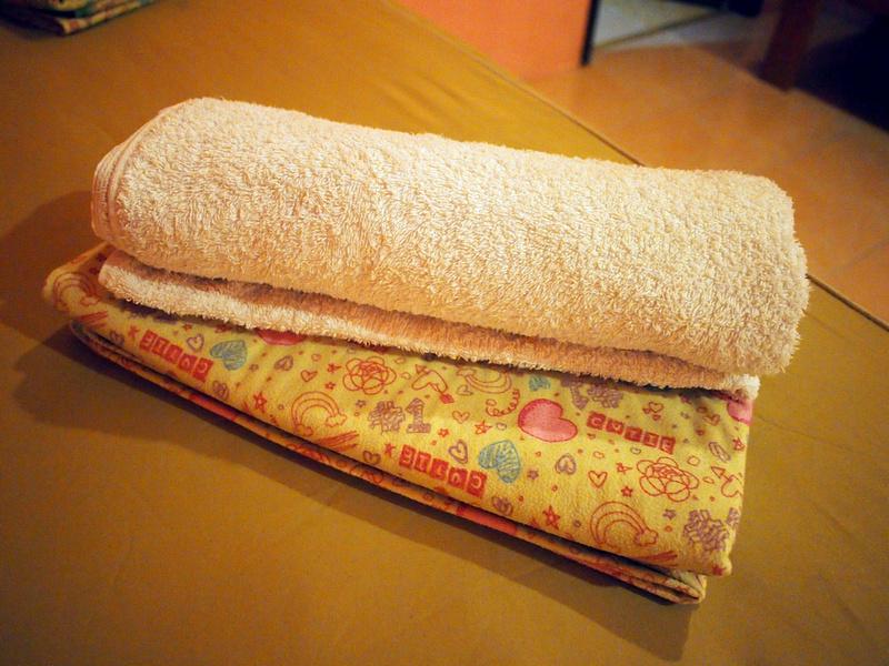 Towel and sheet