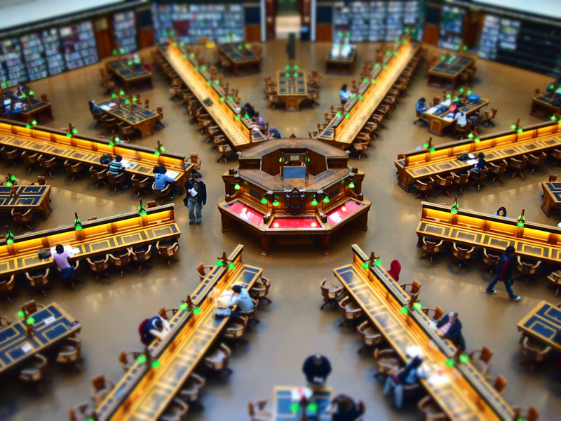 Reading Room at State Library of Victoria, Melbourne - Australia