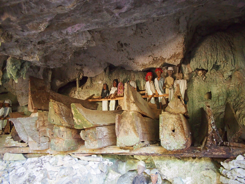Coffins in cave