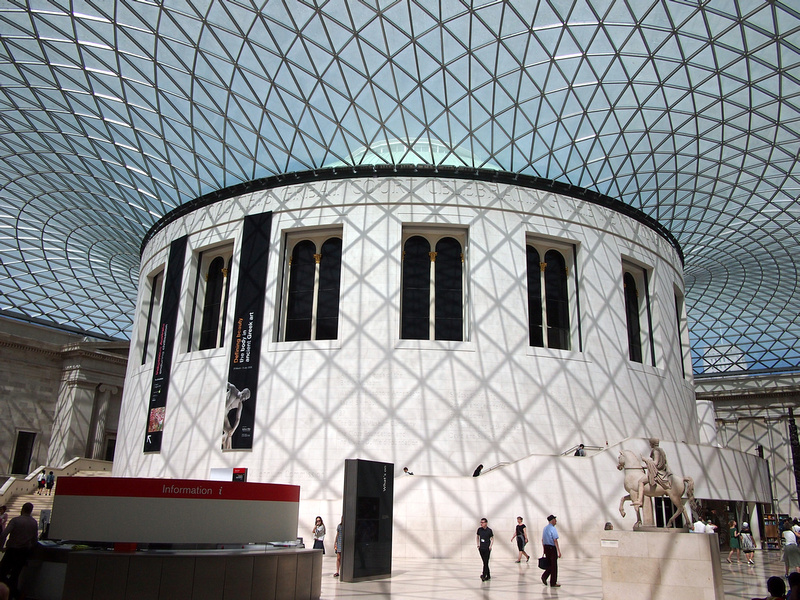 The Reading Room and Great Court roof at the British Museum