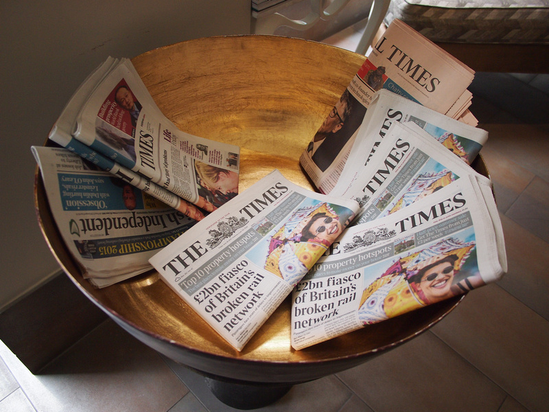 Newspapers - Radisson Blu Edwardian Mercer Street