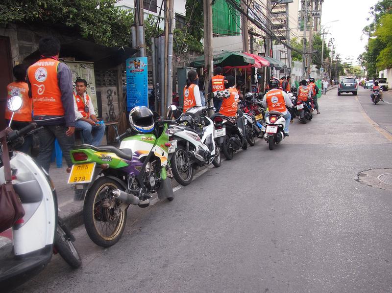 Motorbike taxi drivers - Bangkok