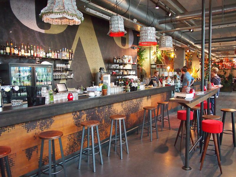 Bar and checkin area