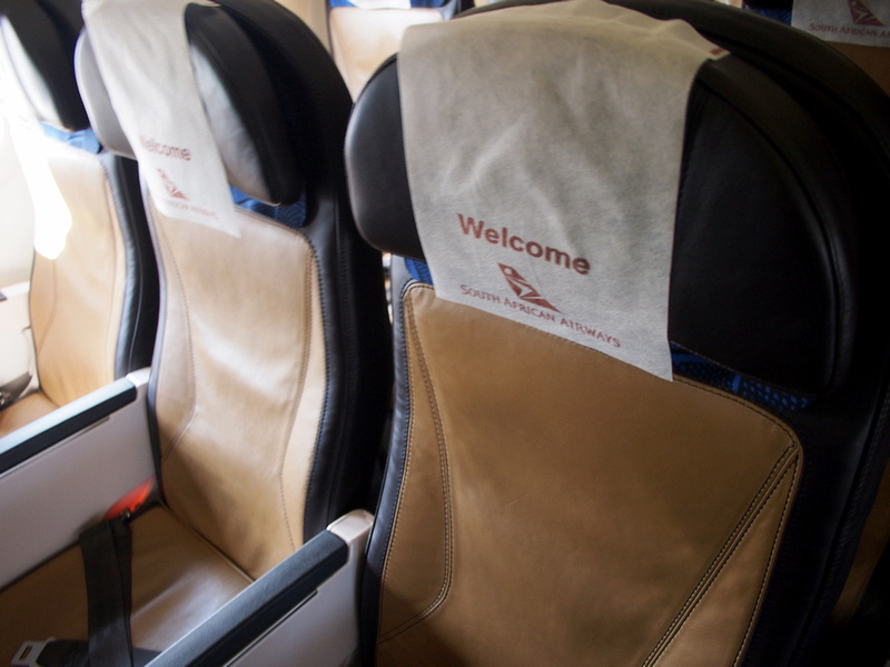 South African Airways economy seats